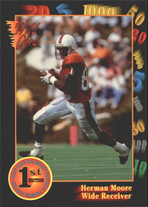 1991 Wild Card Draft #67 Herman Moore