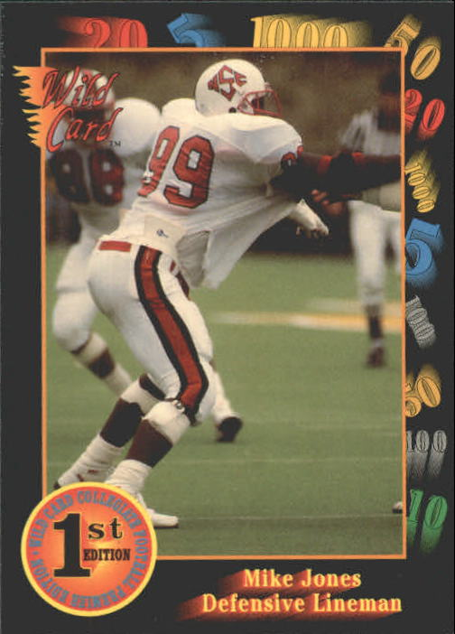 1991 Wild Card Draft #83 Mike Jones DE