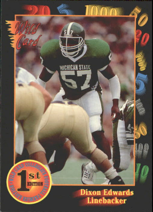 1991 Wild Card Draft #100 Dixon Edwards