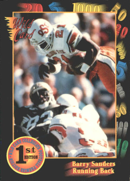 1991 Wild Card Draft #106 Barry Sanders