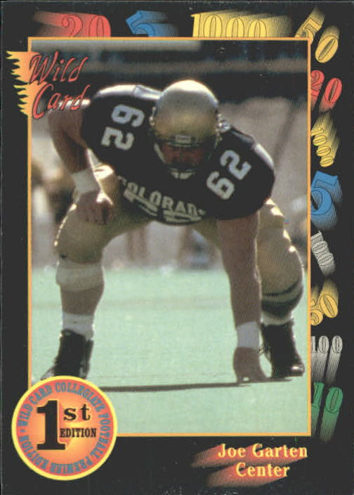1991 Wild Card Draft #108 Joe Garten