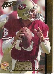 1992 Action Packed Rookie Update #60 Joe Montana