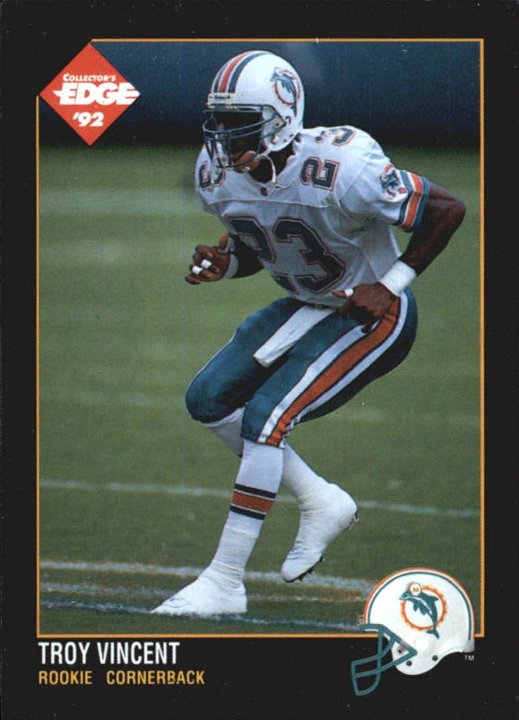 1992 Collector's Edge #177 Troy Vincent RC
