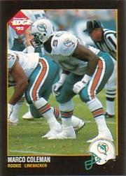 1992 Collector's Edge #180 Marco Coleman RC