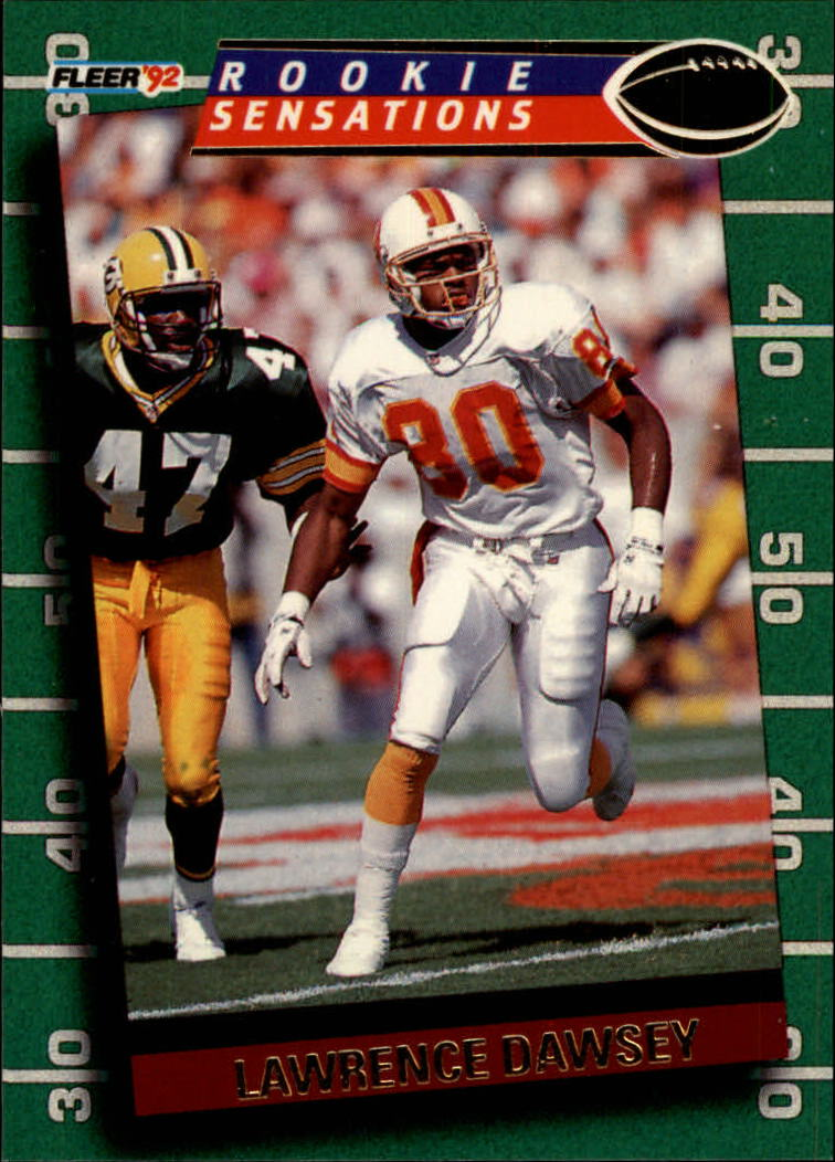 1992 Fleer Rookie Sensations #19 Lawrence Dawsey