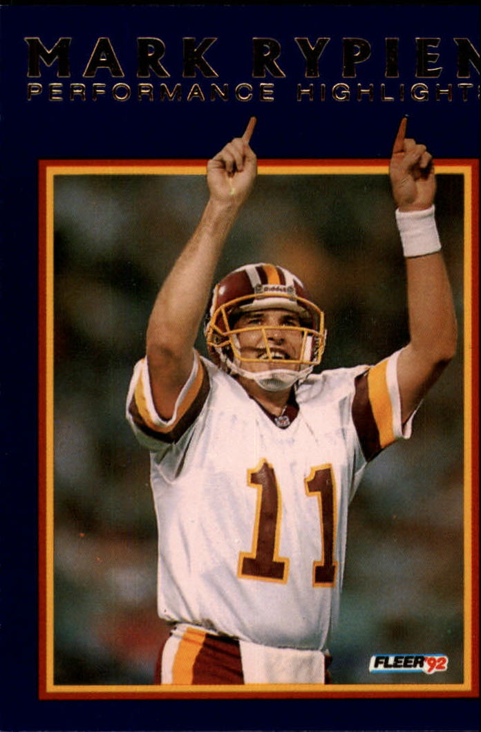1992 Fleer Mark Rypien #1 Mark Rypien/A Matter of Faith