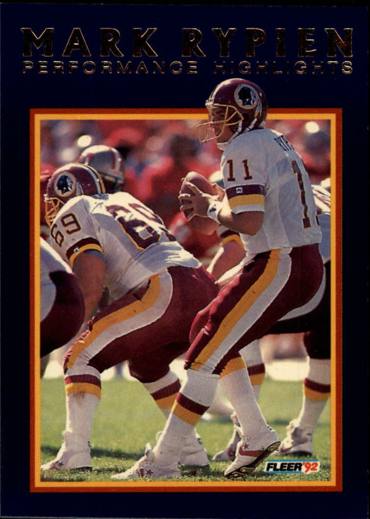 1992 Fleer Mark Rypien #11 Mark Rypien/Pain and Pressure