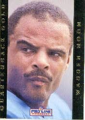 1992 Pro Line Portraits QB Gold #15 Warren Moon