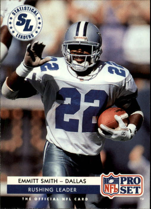 1992 Pro Set #7 Emmitt Smith LL front image