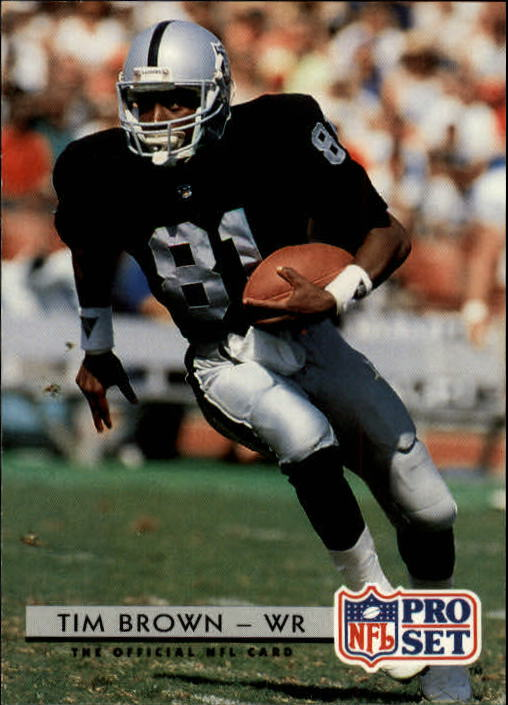 1992 Pro Set #210 Tim Brown