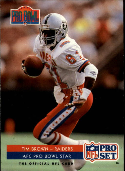 1992 Pro Set #377 Tim Brown PB