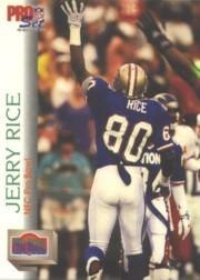 1992 Pro Set #418 Jerry Rice PB
