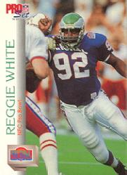 1992 Pro Set #427 Reggie White PB