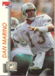1992 Pro Set #559 Dan Marino