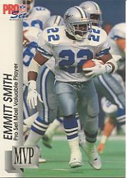 1992 Pro Set Gold MVPs #MVP18 Emmitt Smith