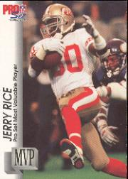1992 Pro Set Gold MVPs #MVP27 Jerry Rice