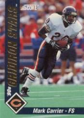 1992 Score Gridiron Stars #10 Mark Carrier DB