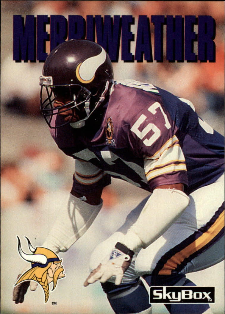1992 SkyBox Impact #158 Mike Merriweather
