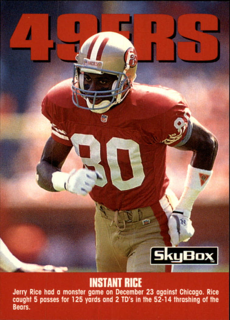 1992 SkyBox Impact #301 Jerry Rice TC