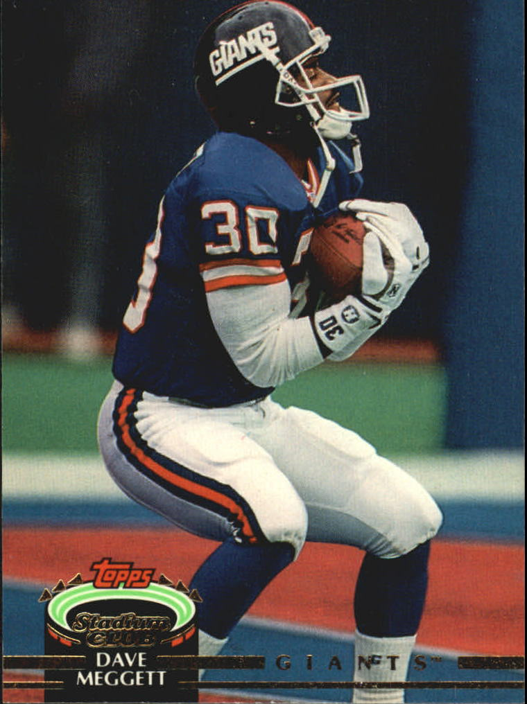 1992 Stadium Club #17 Dave Meggett