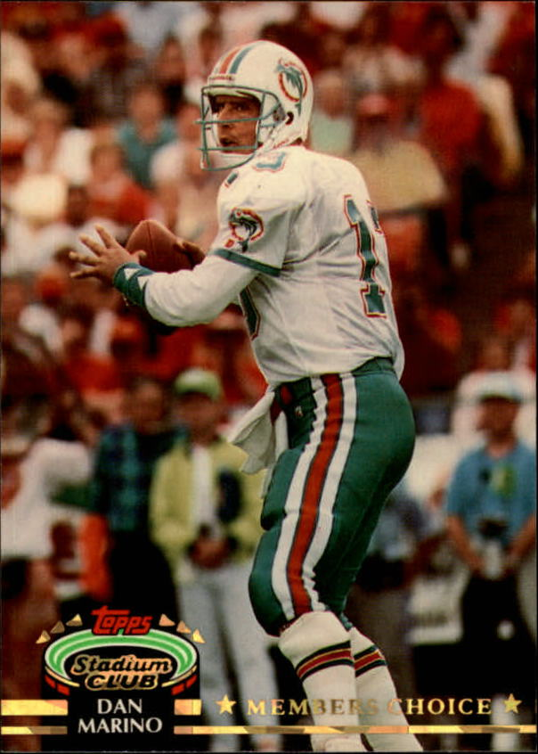 1992 Stadium Club #603 Dan Marino MC