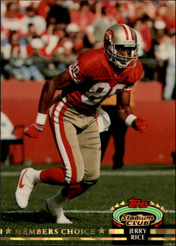 1992 Stadium Club #608 Jerry Rice MC