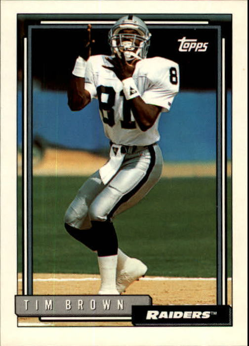 1992 Topps #612 Tim Brown