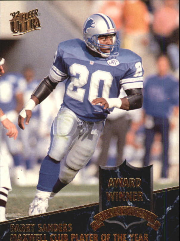 1992 Ultra Award Winners #8 Barry Sanders