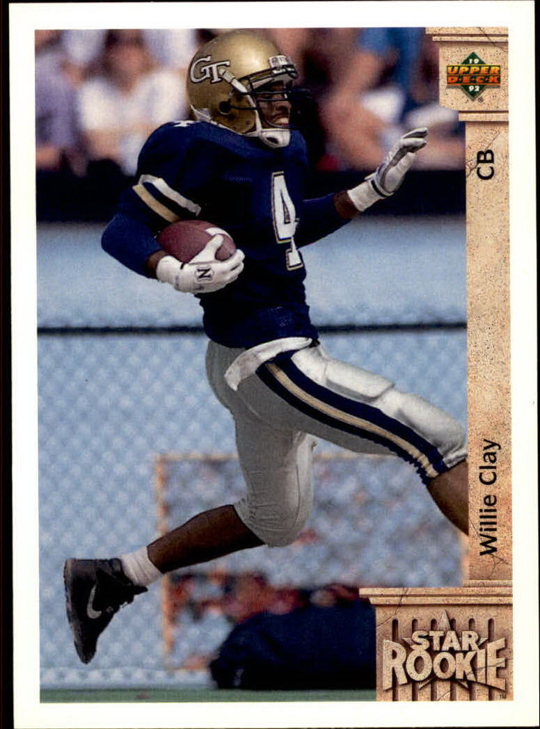 1992 Upper Deck #7 Willie Clay RC