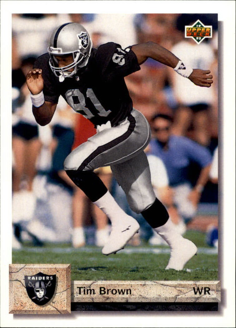 1992 Upper Deck #218 Tim Brown