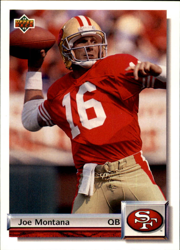 1992 Upper Deck Gold #G36 Joe Montana