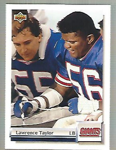1992 Upper Deck Gold #G44 Lawrence Taylor
