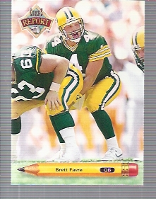 1992 Upper Deck Coach's Report #CR5 Brett Favre