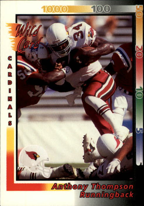 1992 Wild Card #40 Anthony Thompson