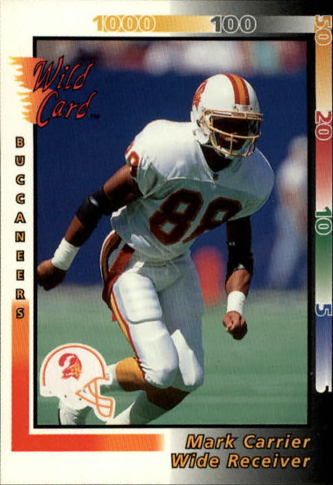 1992 Wild Card #43 Mark Carrier WR
