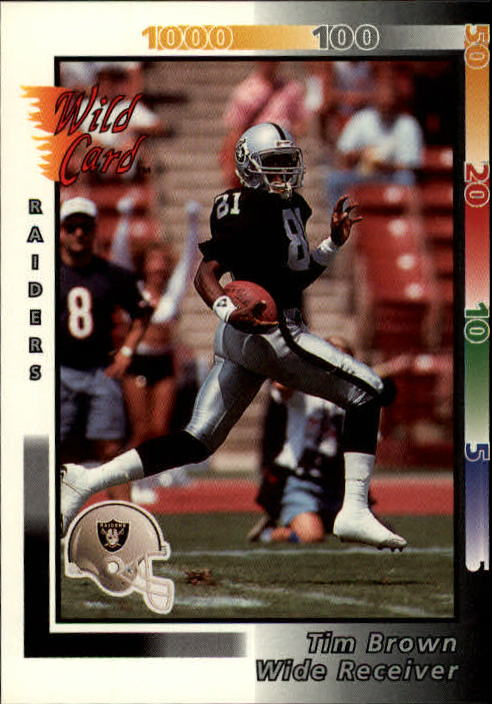 1992 Wild Card #71 Tim Brown