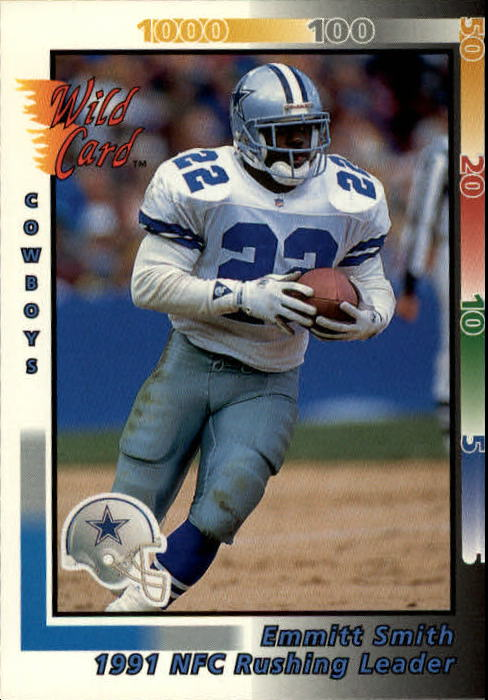 1992 Wild Card #245 Emmitt Smith LL