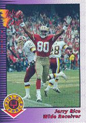1992 Wild Card Field Force #30 Jerry Rice