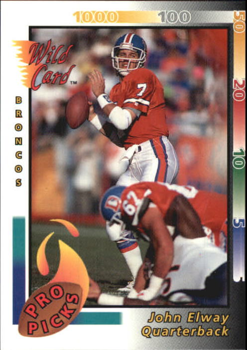 1992 Wild Card Pro Picks #6 John Elway