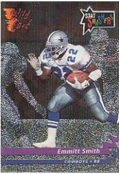 1992 Wild Card Stat Smashers #SS46 Emmitt Smith