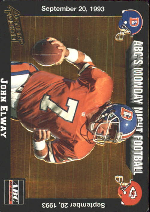1993 Action Packed Monday Night Football #10 John Elway