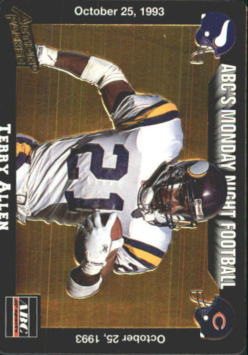 1993 Action Packed Monday Night Football #31 Terry Allen