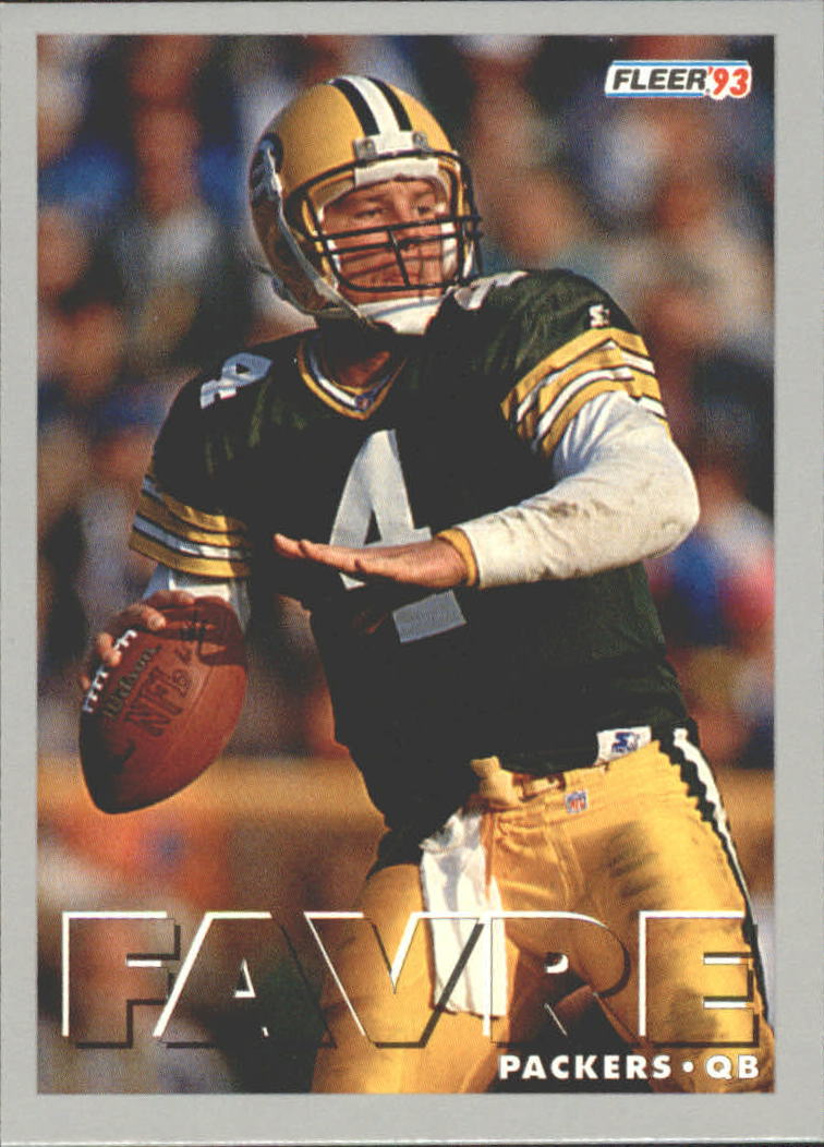 1993 FACT Fleer Shell #10 Brett Favre