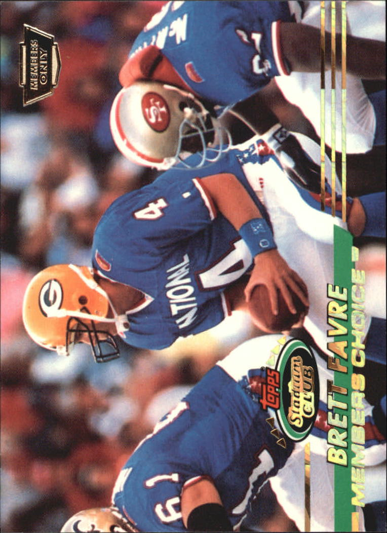 1993 Stadium Club Members Only Parallel #498 Brett Favre MC