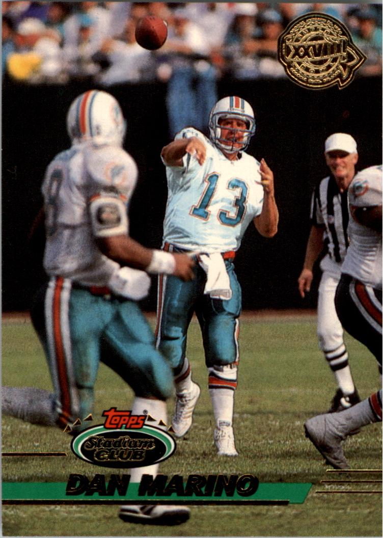 1993 Stadium Club Super Teams Super Bowl #60 Dan Marino