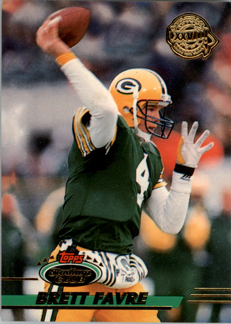 1993 Stadium Club Super Teams Super Bowl #210 Brett Favre