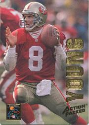 1993 Action Packed Quarterback Club #QB18 Steve Young