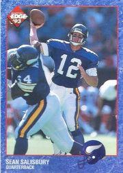 1993 Collector's Edge #126 Sean Salisbury