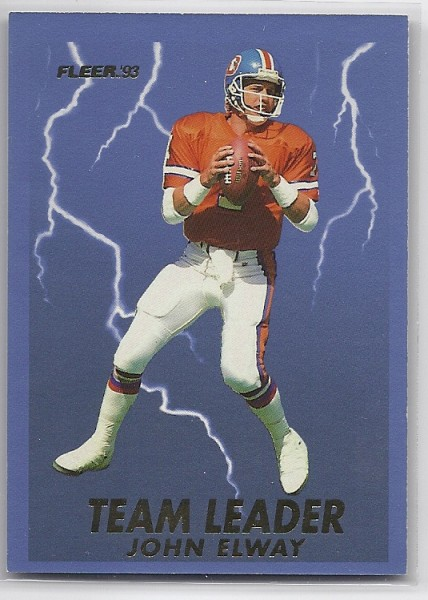1993 Fleer Team Leaders #4 John Elway