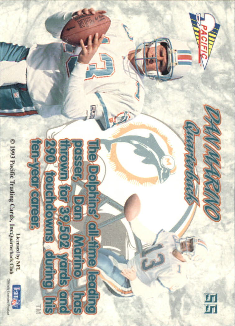 1993 Pacific Prisms #55 Dan Marino back image